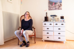 Barbara Bösiger in ihrem Zuhause