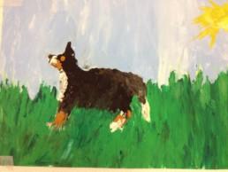 Barry, der Hund der Bäuerin
