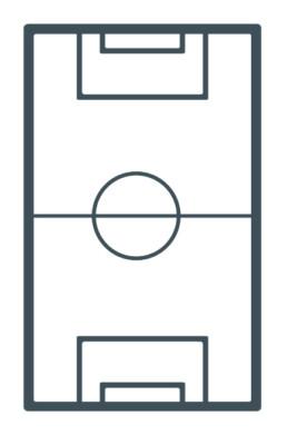 Piktogramm Fussballfeld