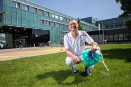Dr. med. Rein Jan Piso, Leiter Spitalhygiene der Solothurner Spitäler vor dem Kantonsspital Olten