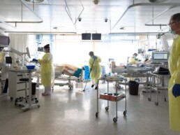 Ein Zimmer der Intensivstation